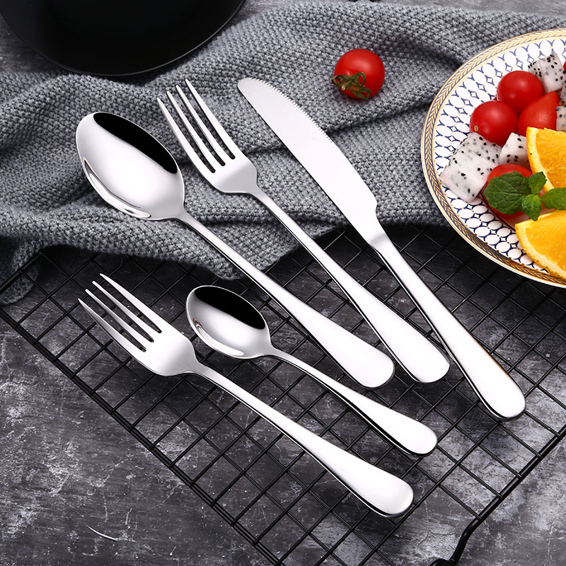 ROXY 20Pcs Set Stainless Steel Cutlery Set Silverware Dinnerware Tableware Dishwasher Safe Dinner Fork Knife Drop