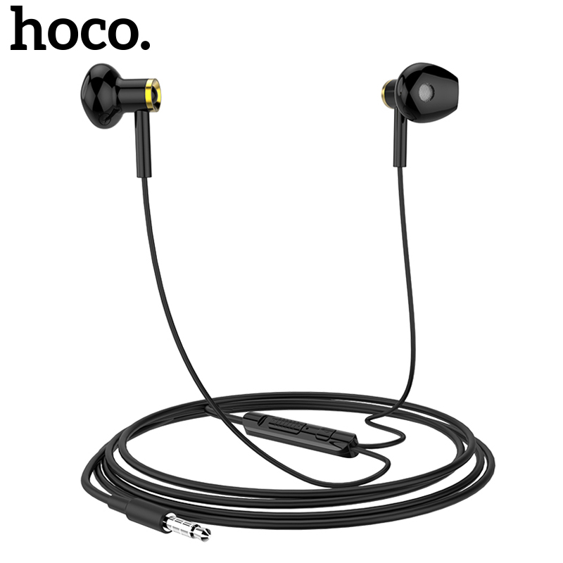 Hoco M24 3 5mm Wired In Ear Earphones Wire Control Hifi Noise