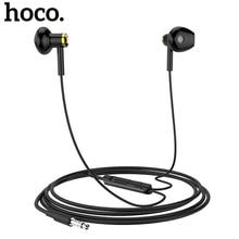 HOCO M47 auriculares intrauditivos deportivos, con cable de 3,5mm, con micrófono, para iPhone, Xiaomi, Samsung