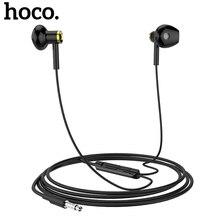 HOCO M47 słuchawki douszne Bass Sport 3.5mm przewodowy zestaw słuchawkowy do iPhone Xiaomi Samsung słuchawki douszne z mikrofonem auriculares