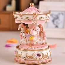 Hot lantern carousel music box