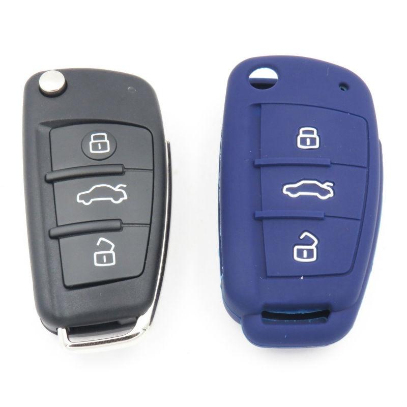 Silikon Anahtar Kapak Durumda Audi A1 Için A3 A4 A5 A6 A7 A8 Q5 Q7 - Araç Içi Aksesuarları - Fotoğraf 2
