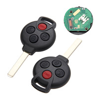 Yetaha 2PCS Smart Remote Key Fit For Mercedes Benz Smart Fortwo 2005 2015 315 MHz 4 Buttons Car Keys With 7941 Chip KR55WK45144