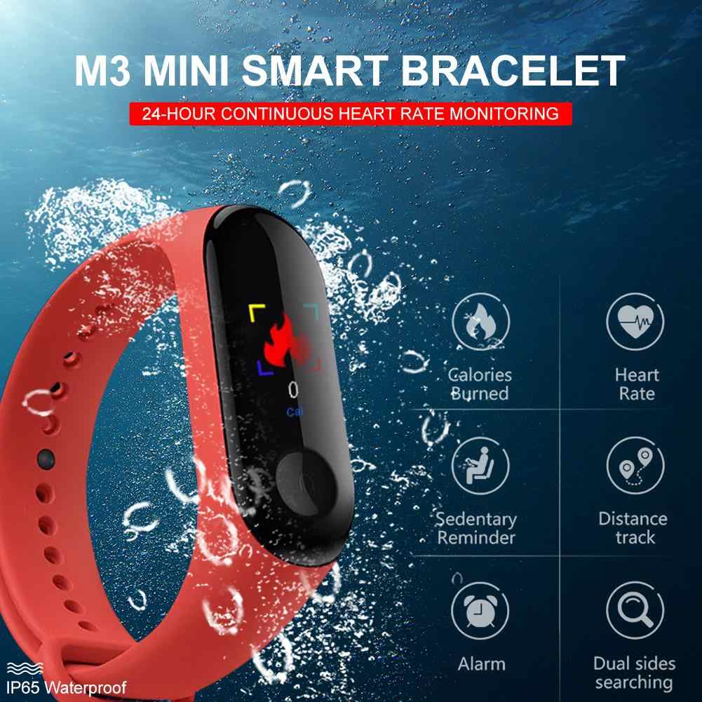 M3 Color Screen Smart Band Step Counter Heart Rate Blood Pressure Detection Smart Bracelet Reminder Waterproof Sports Wristband