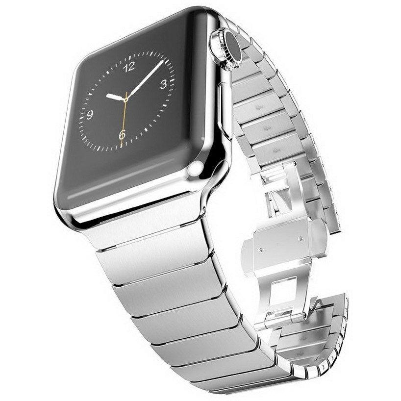 Edelstahl Metallarmband für Apple Watch Serie 1 2 3 4 5 Band - Uhrenzubehör - Foto 3