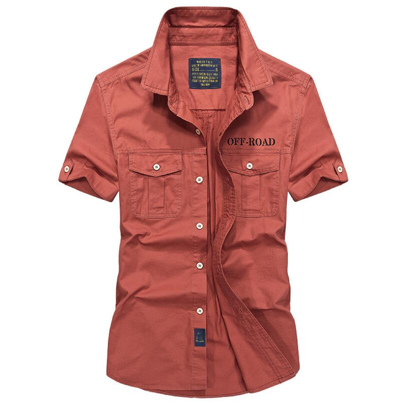 Original AFS JEEP Brand <font><b>Men</b></font> <font><b>Shirts</b></font> Short sleeve Breathable Plus Size 4XL Cool <font><b>summer</b></font> imported clothing camisa social masculina image