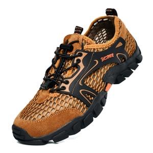 Image 2 - Men Hiking Shoes Waterproof Shoes Men Mountain Climbing Trekking Shoes