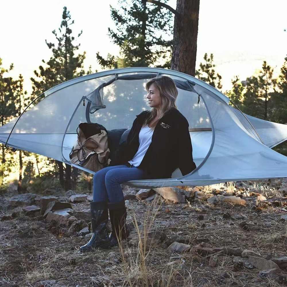SKYSURF kamp çadırı 2 kişi taşınabilir su geçirmez asılı ağaç çadırı üçgen süspansiyon asılı kamp çadır hamak çadır