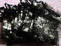 100 unids/lote 9 x 12 cm plata negro Organza de la mariposa bolsas de regalo de boda