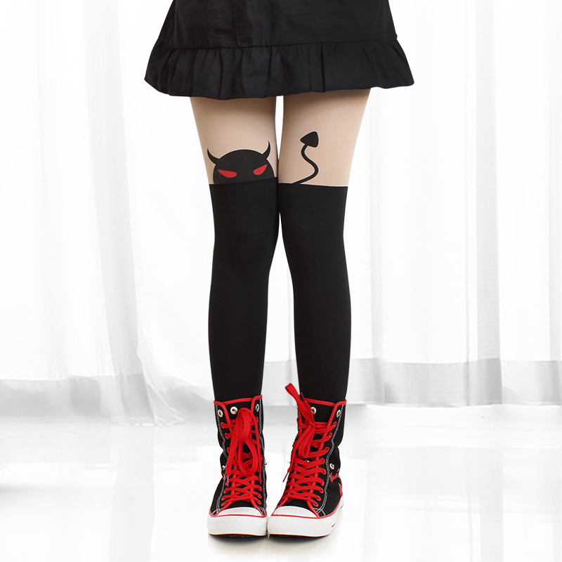 New  High Quality Little Devil  Velvet Lycra Stockings