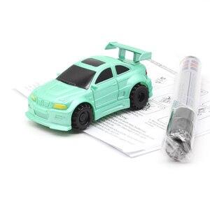 Image 2 - Entrega gratuita quente caneta mágica indutivo caminhão de carro siga qualquer linha preta desenhada pista mini brinquedo veículos de engenharia brinquedo educacional