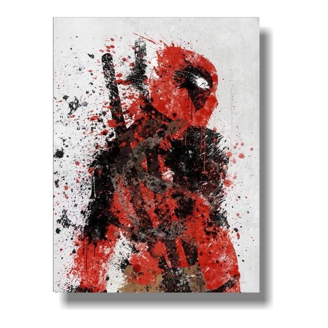 Custom Poster Funny Superheroes Comic Movie Deadpool Wade Wilson Silk Posters Marvel Wallpaper Cafe Decoration