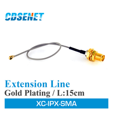 10PC/Lot Original CDSENET XC-IPX-SMA Antenna Extension Line 20cm SMA-K To IPX WiFi Wireless Communication  Antenna Cable