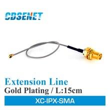 10 pc/lote ipx adaptador linha de extensão 20cm XC IPX SMA ufl para rp sma conector wi fi cabo de extensão da antena