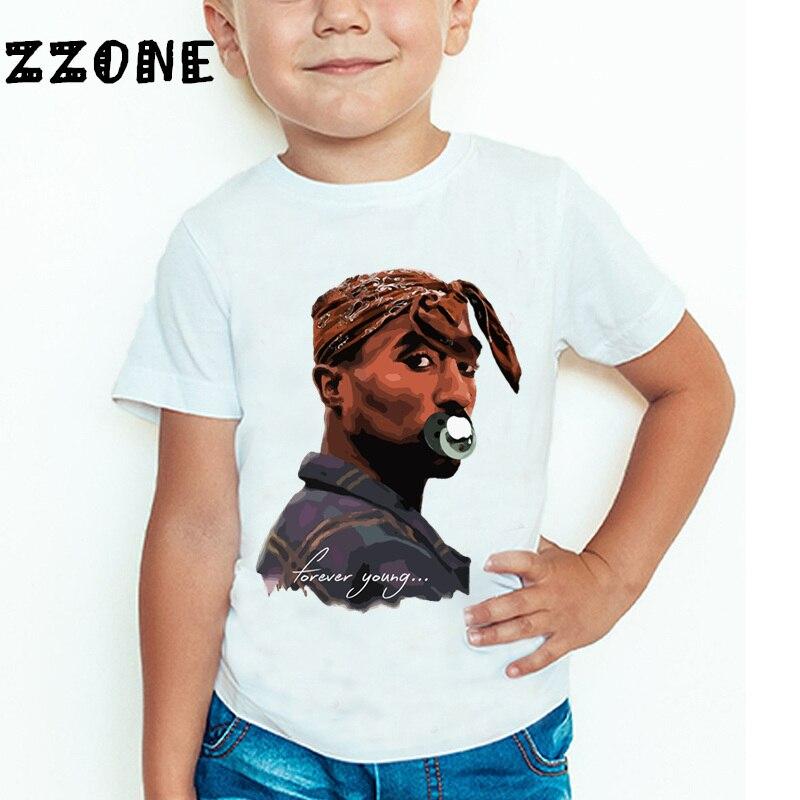 Uşaqlar Tupac 2pac Hip Hop Qaldırma Printli T-shirt Uşaq Körpə - Uşaq geyimləri - Fotoqrafiya 2