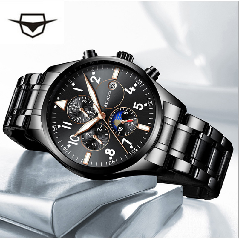 2019 The latest design of the multi function gear sport diving watch movements leisure fashion men's wrist watch men Automatic-in Mechanical Watches from Watches    1