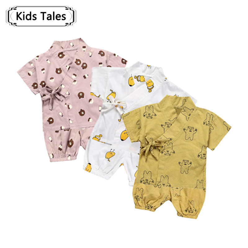 2017 Summer Children Costume Boys Girls Pajamas Shorts Cartoon Children Clothes Kids 2pcs. Tops + Shorts Pajamas Sets ST295