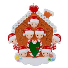 Maxora Christmas Ornament Gingerbread House- 7 people For Christmas Tree Decor, Holiday Celebration, Personalized ornament цены