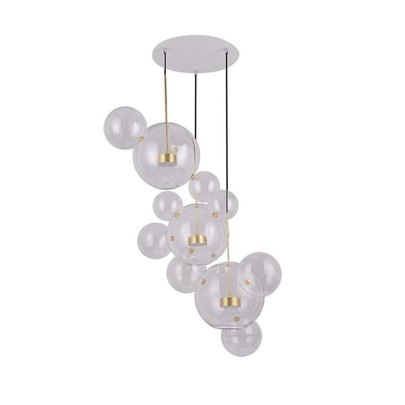 цена на Post Modern Bolle Lamp Led Pendant Light Clear Glass Bubble Ball droplight Fixtures Indoor Lighting Lustre luminaria Hang Lamp