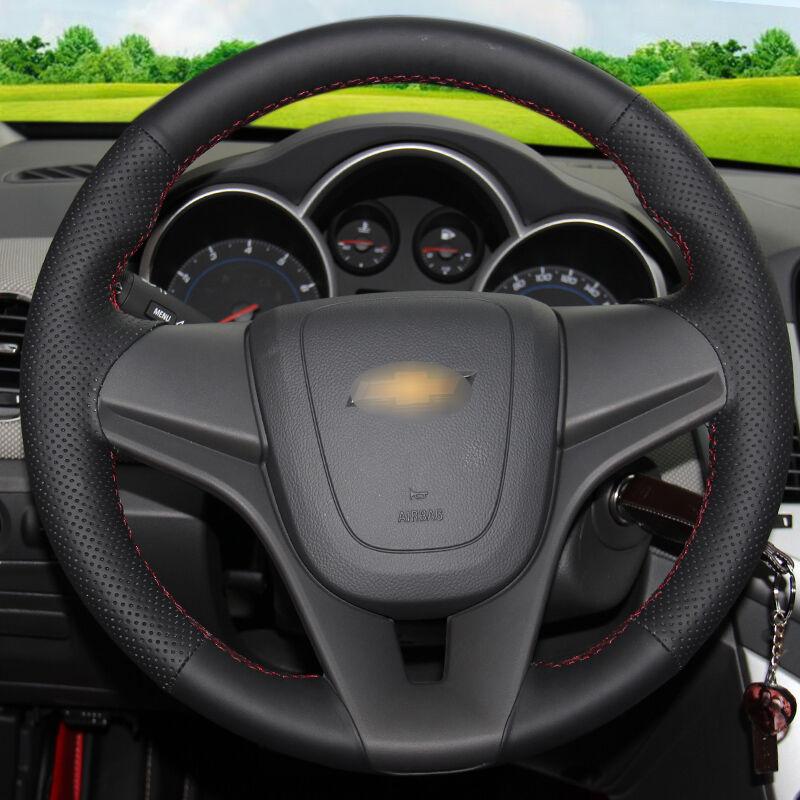Chevrolet Cruze Aveo üçün BANNIS Qara Süni Dəri DIY Əl ilə - Avtomobil daxili aksesuarları - Fotoqrafiya 2