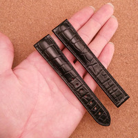 Replacement special style watchbands black alligator watch straps 19mm 20mm 22mm for brand watches men hours Luxury watch bands