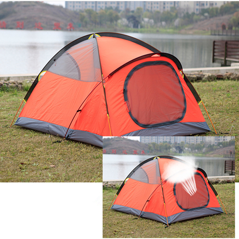Outdoor 1 2 Person Camping Tent Double 3000mm waterproof 3 Season Tent Tourism tents outdoor camping hiking automatic camping tent 4person double layer family tent sun shelter gazebo beach tent awning tourist tent