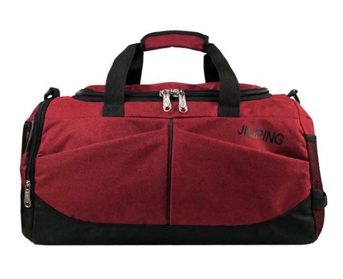 Хит, мужская сумка для путешествий, вместительная, женская, для багажа, для путешествий, сумки для путешествий, мужская, холщовая, большая, для путешествий, складная, сумка на плечо - Цвет: Wine Red