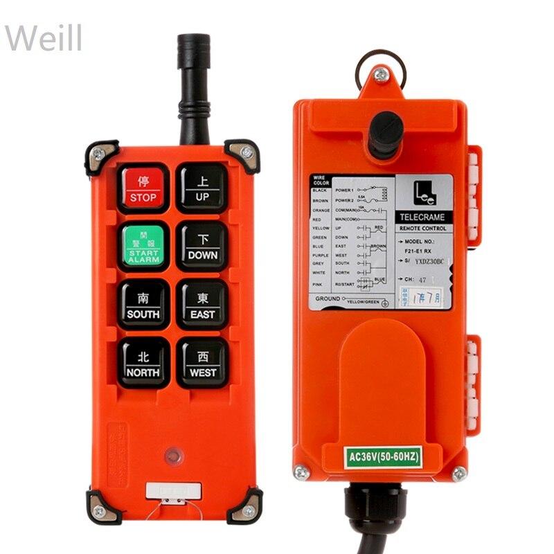 36vTelecrance F21-E1B Industrial radio remote control for crane