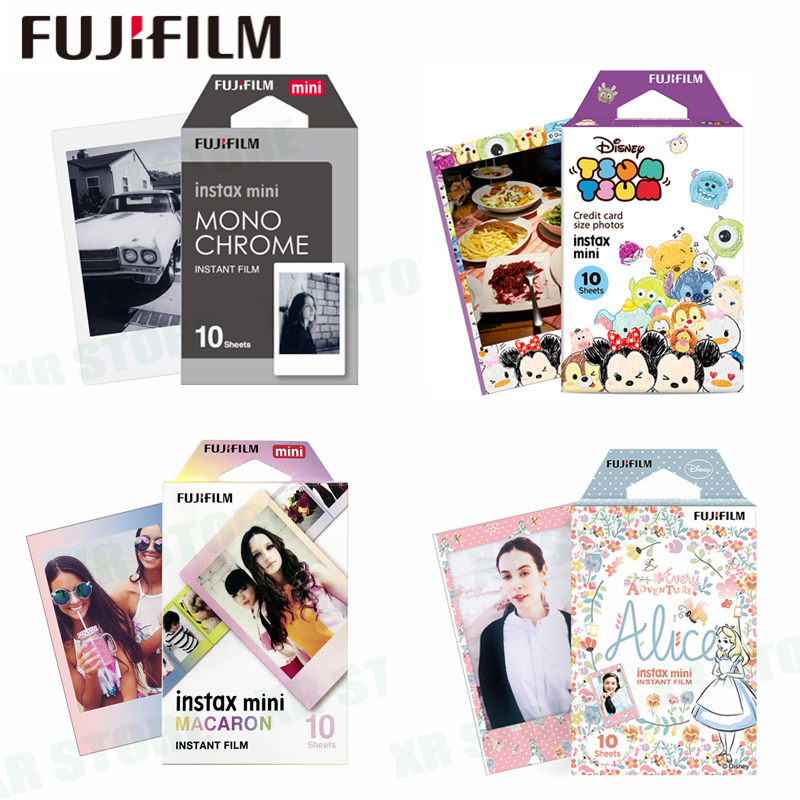 Fujifilm 10 Fogli Mickey Alice Winnie Del Fumetto Instant Photo Film di Carta Per Fuji Instax Mini 8 9 70 7 s 50 s 50i 90 25 Parti SP-