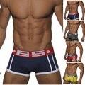 Высокое качество хлопка Sexy men Underwear боксеры Cueca Боксеры новый бренд мужская боксер шорты Sexy Gay Underwear Мужчины трусы скольжения