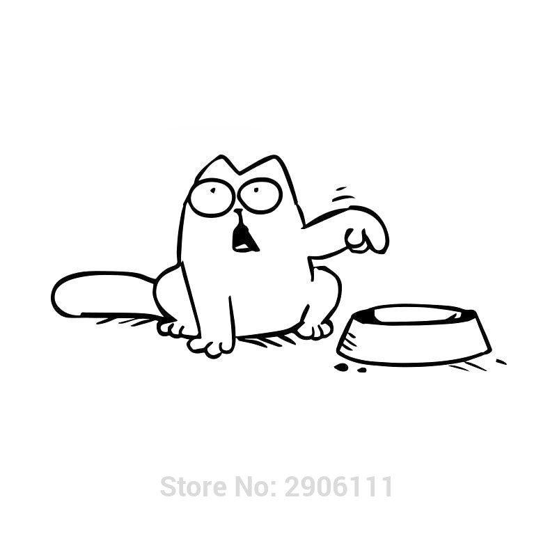 Hungry Simons cat bowl car sticker gas tank cap for Cadillac srx cts ats escalade emblem sts dts bls accessories car-styling