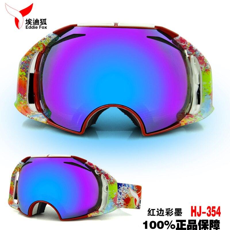 Prix pour Eddie fox double-couche coupe-vent anti-brouillard miroir de ski de neige escalade lunettes sports de plein air lunettes hommes et femmes