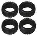 Mxfans 4 PCS Black Sponge Inside RC 1:10 Scale Buggy Cylindrical Spot Rubber Tyre