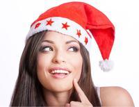 אדום Ailin 10 יחידות Led מהבהב כובעי חג מולד חג המולד סנטה כובעי קישוט אור עד Caps חג המולד שווי לא ארוג כוכב