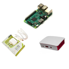 Discount! NEW!Freeshipping!2016 Latest Raspberry Pi 3 Model B With Built-in wireless and Bluetooth connectivity+Power Supply+Official Case