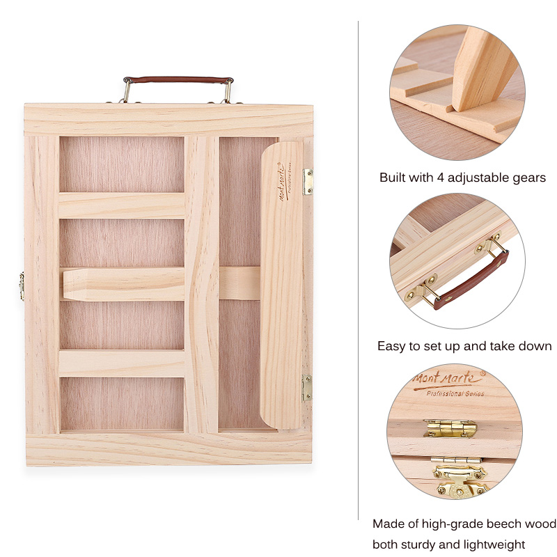 US $19 99 |Wooden Table Easels for Painting Artist Kids Drawer Box Portable  Desktop Laptop Accessories Suitcase Paint Hardware Art Supplies-in Easels