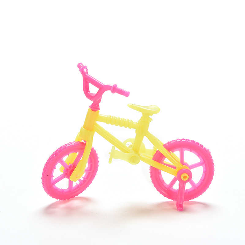 Mini Plastic Doll Bicycle For girl Doll Bicycle Doll Children Baby Gift Furniture Accessories For girl Sports Tool