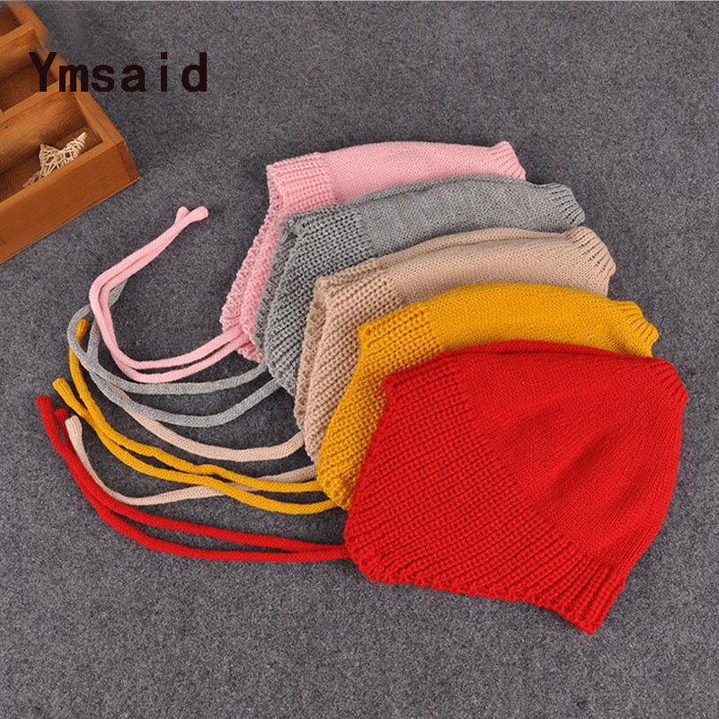 Ymsaid New Autumn Winter Unisex Baby Girls & Boys Knitted Hat Baby Photo Props 9 Colors new 2014 autumn winter baby