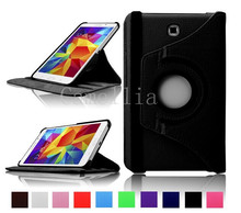360 Rotating Degrees Luxury  Rotating Stand PU Leather Smart Case Cover Shell for Samsung Galaxy Tab 4 7 inch (2014) SM-T230NU