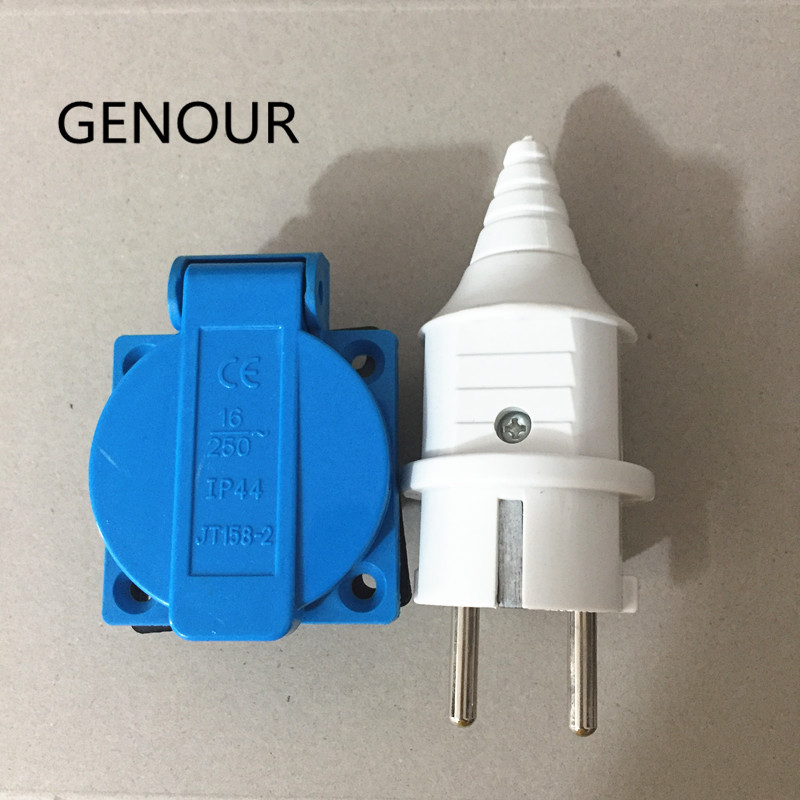 one set European plug+ European receptacle for 2KW 3KW 5KW Gasoline generator accessoriesone set European plug+ European receptacle for 2KW 3KW 5KW Gasoline generator accessories