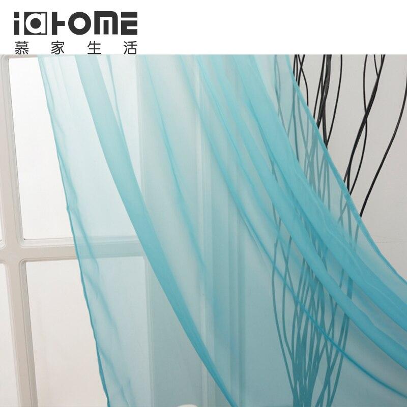 gratis verzending gordijnen turquoise kleur transparante voile gordijnen gordijnen tone om tone ontwerp mooie ontwerpen in gratis verzending gordijnen