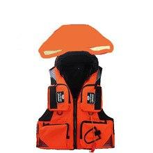 MAX BEARING 110KG WITH HOOD Fly Fishing Vest Adjustable Mesh Mutil-Pocket Outdoor Sport Life Safety Jacket