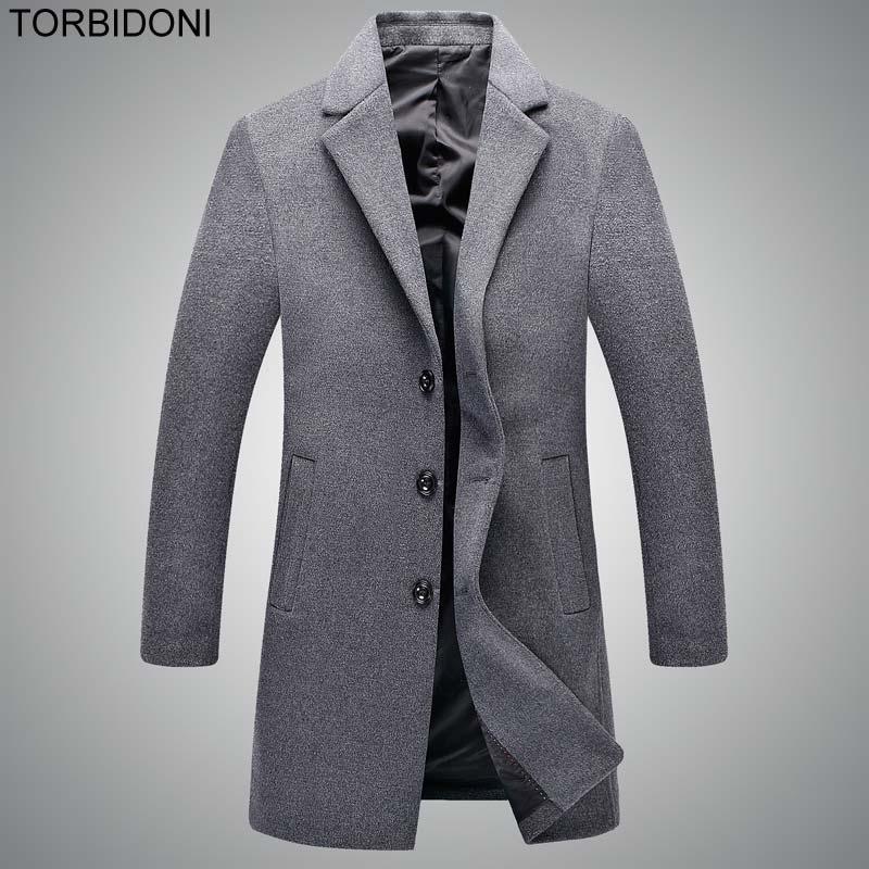 Здесь продается  Men Wool Trench Coat Button Fly Woolen Blends Suit England Style Design Slim Wool Overcoat Mens Casual Jackets Coat for Men XXXL  Одежда и аксессуары