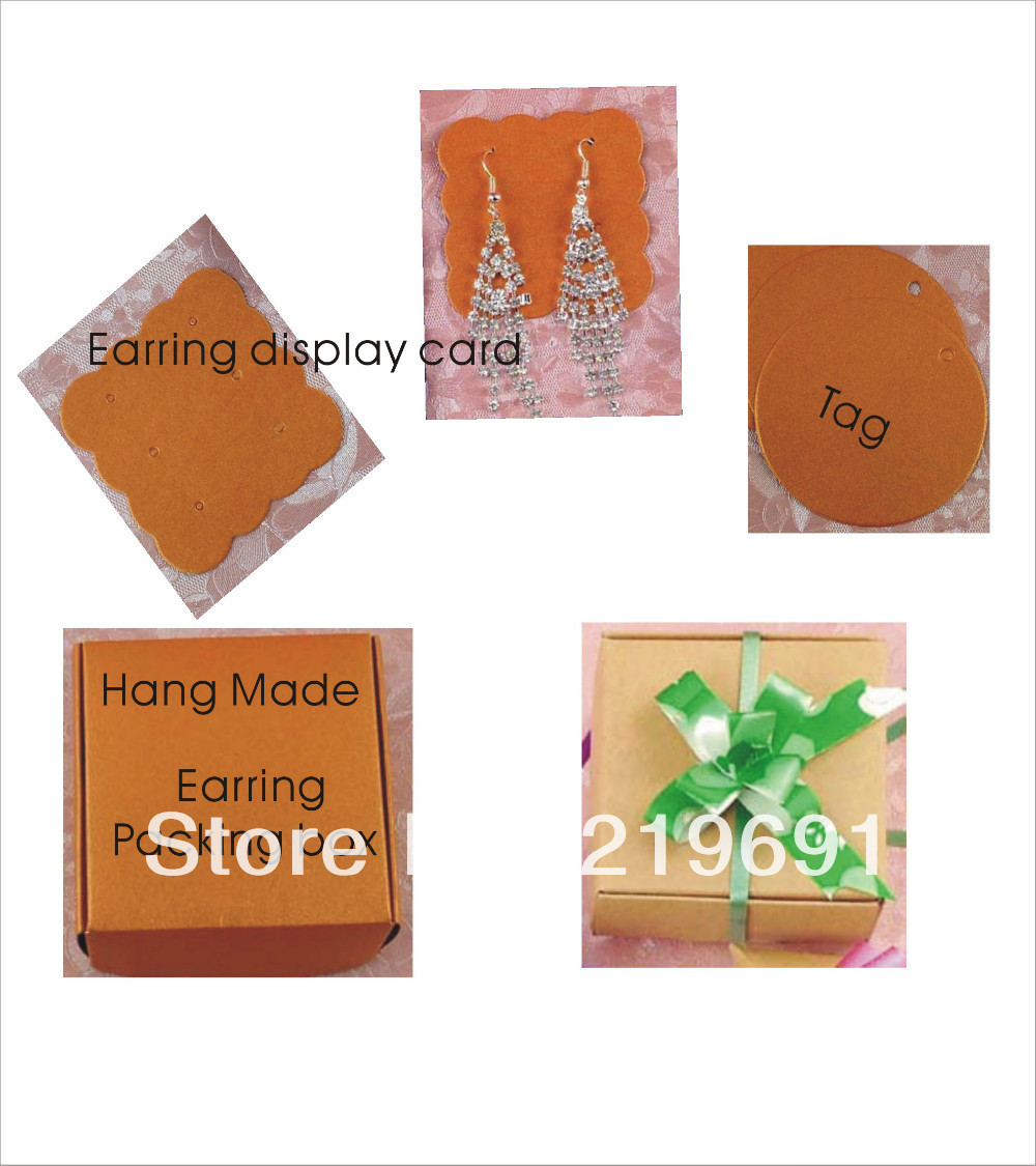 Wholesale New Arrival Diy Earring Packing Card & Paper Box Earring Holder& Earring  Card Hand Made