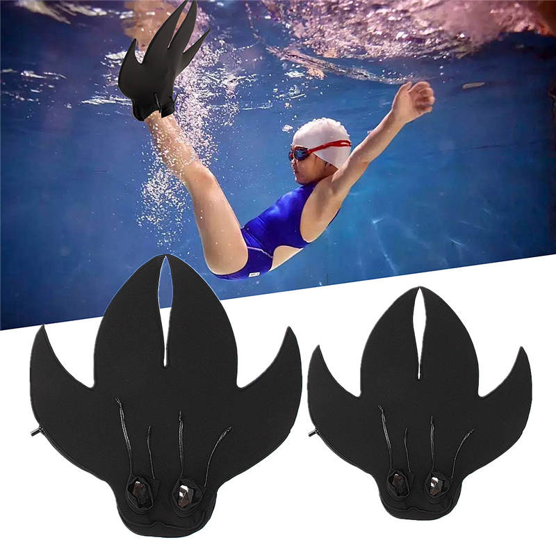 Thick PC Black fins Mermaid Swimming Flippers Kick-off and Out Swim Design Adult Kid Snorkel Shoes for Swimming Diving Equipment