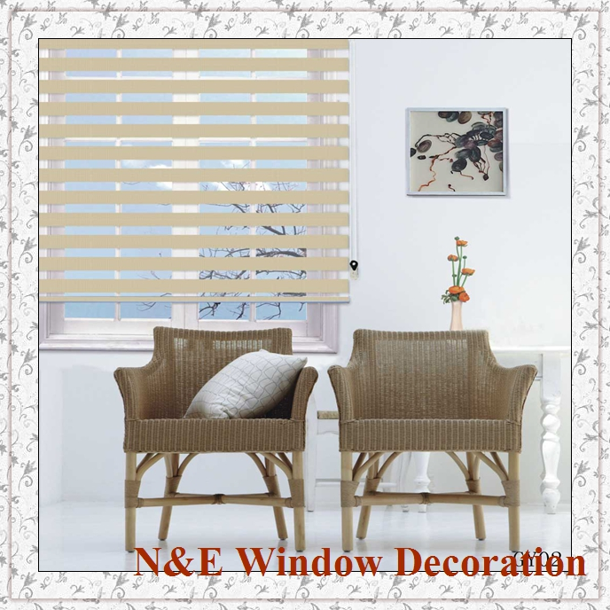 Blackout Window Blinds Zebra Roller Shades And Fancy Curtain For Living RoomChina