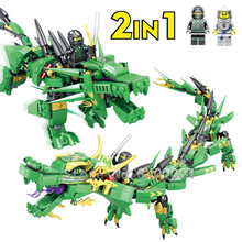 417Pcs Lloyd Green Dragon Ninja Building Blocks Dragon Ball Action Figures Bricks Educational Toys for Children