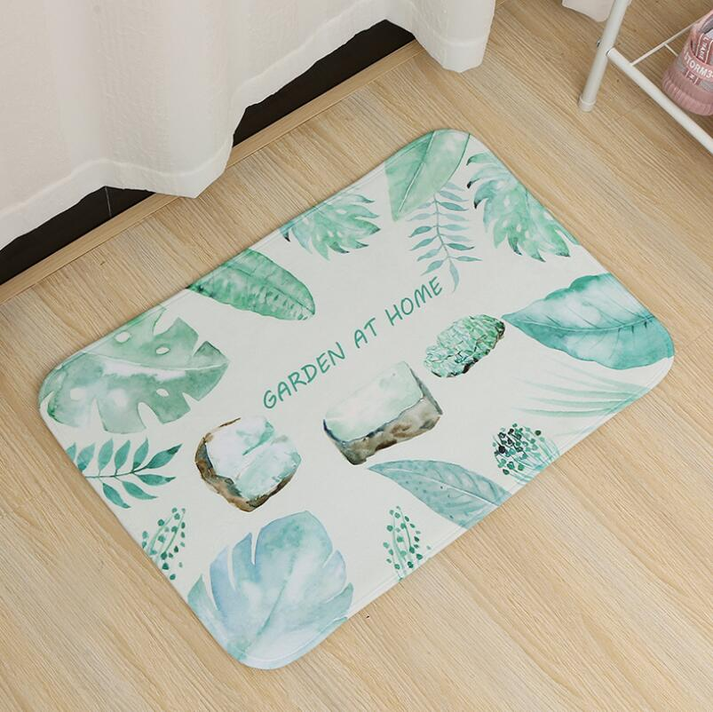 Image 4 - 40*60cm Multi Purpose Nordic Style Carpet Mattress Kitchen Bedroom Bathroom Door Absorbent Anti Skid Toilet Mat Bath Mats PVC-in Bath Mats from Home & Garden