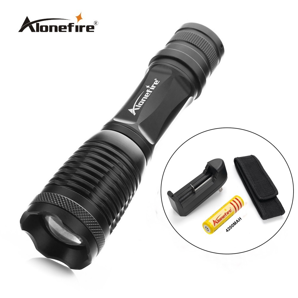 E007 CREE XM-L T6 2000Lumens cree led Torch Zoomable cree LED Flashlight Torch light+18650 battery+charger+torhc Holster e17 xm l t6 3800 lumens zoomable led flashlight torch light 2 4200mah 18650 rechargeable battery charger holster