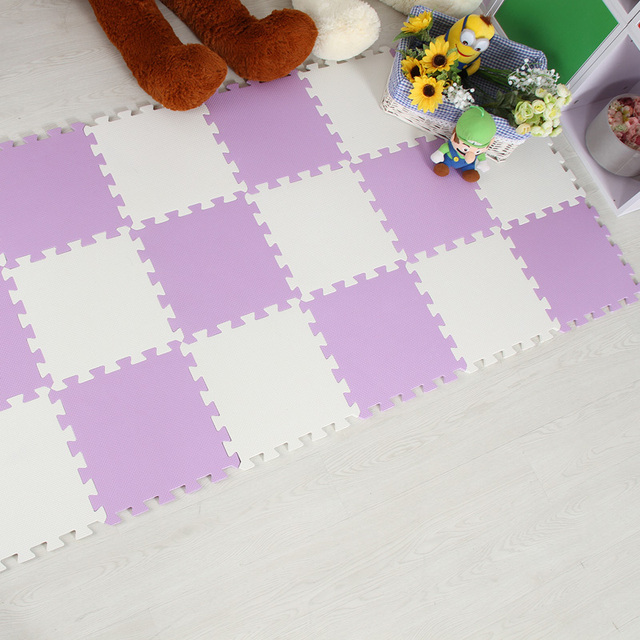 Meitoku baby EVA Foam Play Puzzle Mat/ 18 or 24/lot Interlocking Exercise Tiles Floor Mat for Kid,Each 30cmX30cm,1cmThick